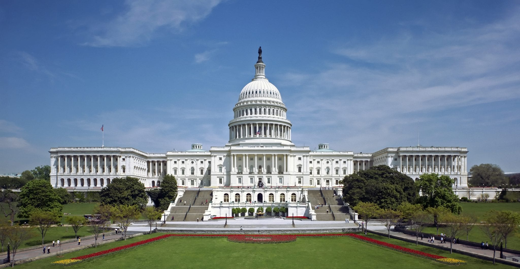 Photo from WikiCommons, labeled for reuse: https://upload.wikimedia.org/wikipedia/commons/a/a3/United_States_Capitol_west_front_edit2.jpg