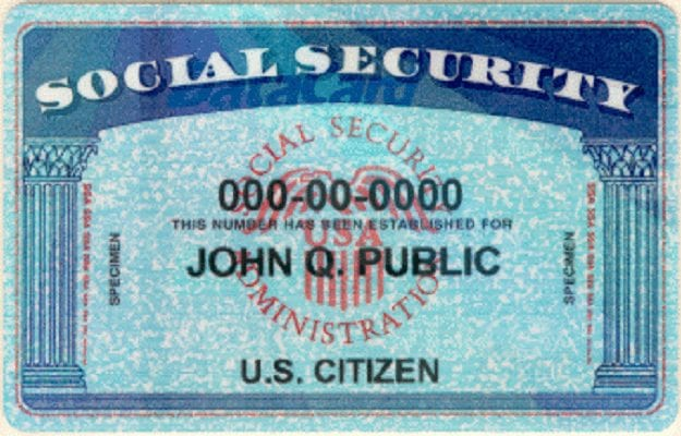 Source: Wikicommons, Labeled for reuse: https://upload.wikimedia.org/wikipedia/commons/c/cf/Social_security_card_john_q_public.png