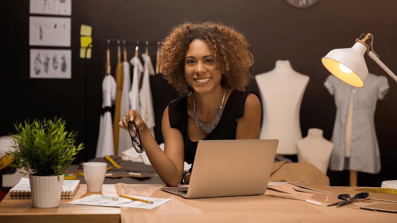 Female Entrepreneur smiling