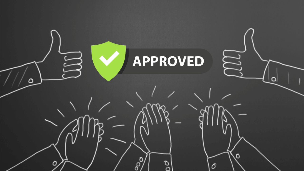 Thumbs up to an approval