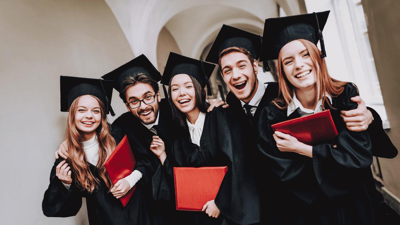 University students graduating