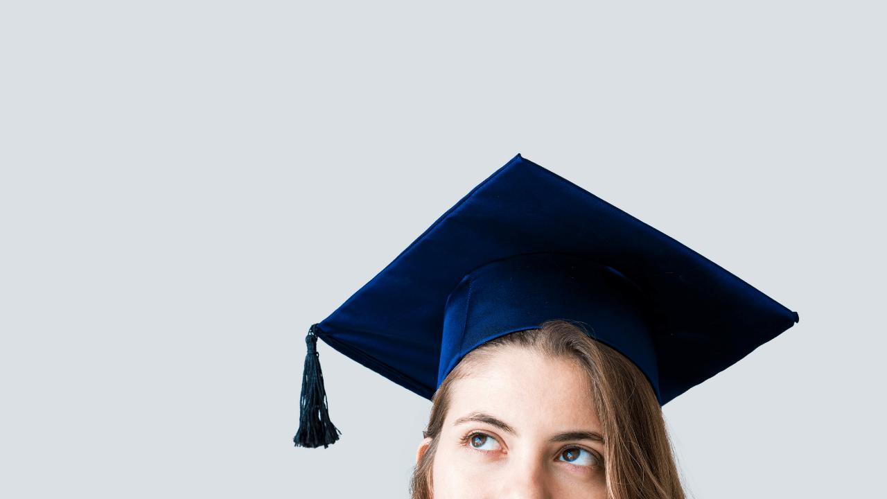 University graduate in cap